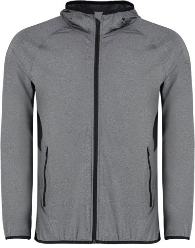 Gamegear fashion fit sports jacket - Grey Melange/Black - Gamegear