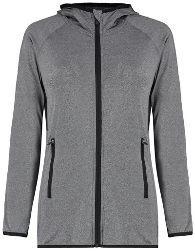 Women's Gamegear fashion fit sports jacket - Grey Melange/Black - Gamegear