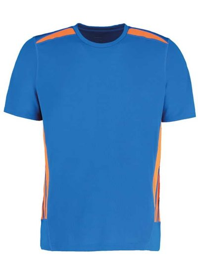 Gamegear Cooltex training t-shirt - Electric Blue/Fluorescent Orange - Gamegear