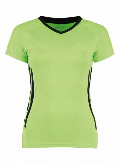 Women's Gamegear Cooltex training t-shirt - Fluorescent Lime/Black - Gamegear