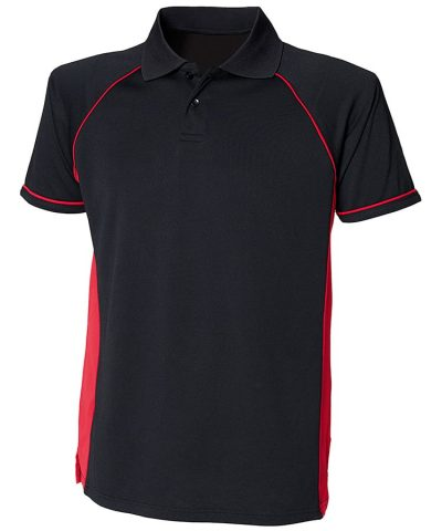 Panel performance polo - Black/Red/Red - Finden & Hales
