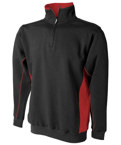 zip sweatshirt - Black/Red - Finden & Hales