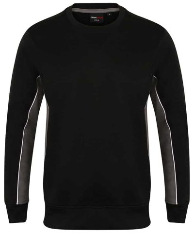 Crew neck sweatshirt - Black/Gun Metal/White - Finden & Hales