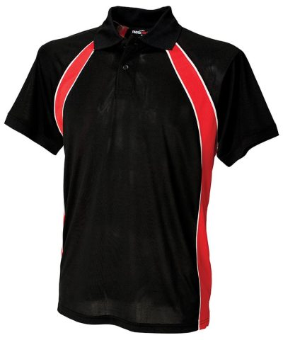 Jersey team polo - Black/Red/White - Finden & Hales