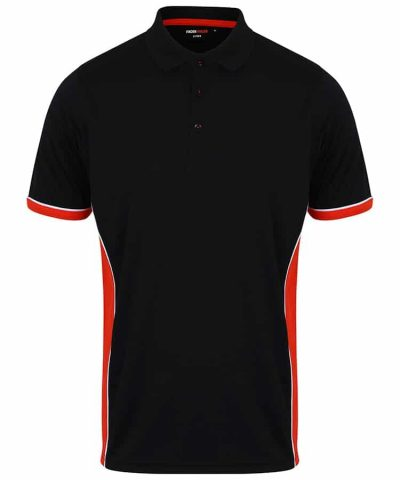 Panel polo - Black/Red/White - Finden & Hales