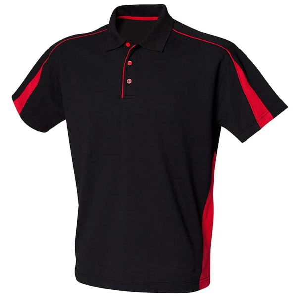 Club polo - Black/Red - Finden & Hales