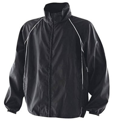 Showerproof training jacket - Black/Black/White - Finden & Hales