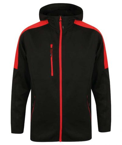 Active softshell jacket - Black/Red - Finden & Hales