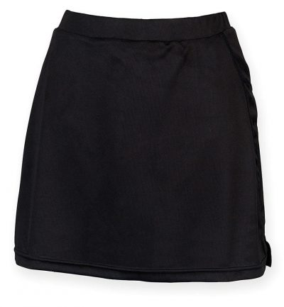 Women's skort with wicking finish - Black - Finden & Hales