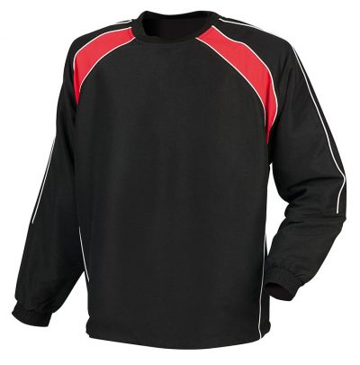 Crew neck warm-up drill top - Black/Red/White - Finden & Hales