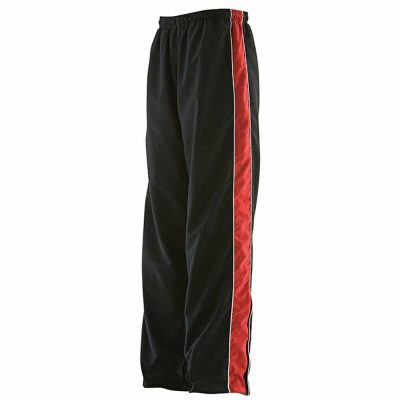 Piped track pant - Black/Red/White - Finden & Hales