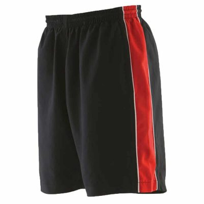 Piped short - Black/Red/White - Finden & Hales