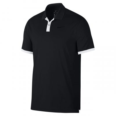 Dry vapour colour block polo - Black/White/Black - Nike