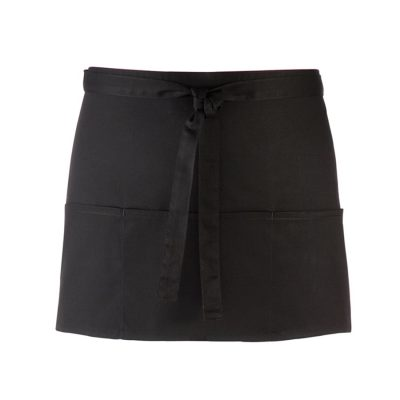 3-open-pocket waist apron - Black - Premier