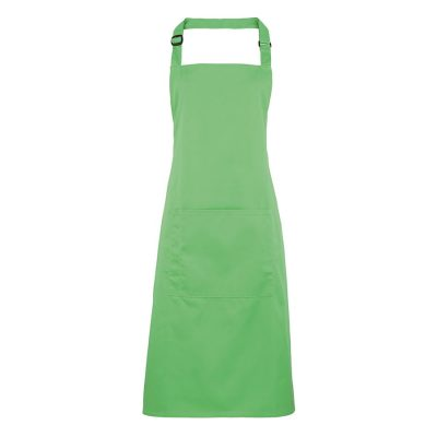 Colours bib apron with pocket - Apple - Premier