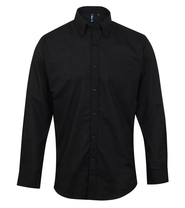 Signature Oxford long sleeve shirt - Black - Premier