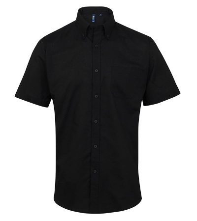 Signature Oxford short sleeve shirt - Black - Premier