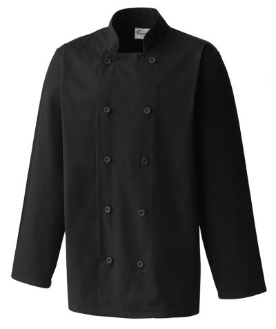 Long sleeve chefs jacket - Black - Premier