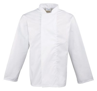 Coolmax long sleeve chef's jacket - White - Premier