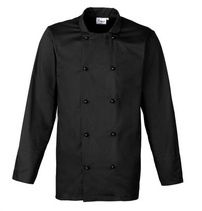 Cuisine long sleeve chef's jacket - Black - Premier