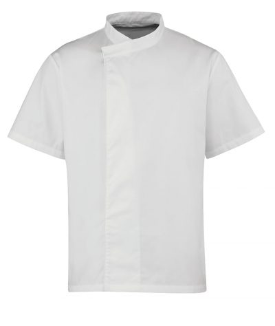 Culinary pull-on chef's short sleeve tunic - White - Premier