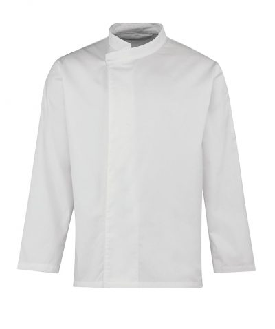 Culinary pull-on chef's long sleeve tunic - White - Premier