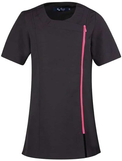 Camellia beauty and spa tunic - Black/Hot Pink - Premier