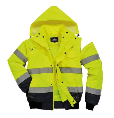 3-in-1 bomber jacket (C465) - Yellow/Navy - Portwest