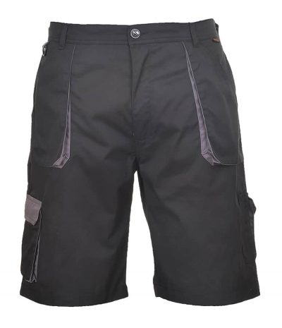 Contrast shorts (TX14) - Black/Grey - Portwest