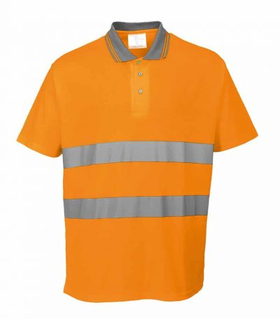Cotton comfort polo shirt (S171) - Orange - Portwest
