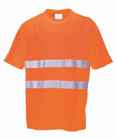 Cotton comfort t-shirt (S172) - Orange - Portwest