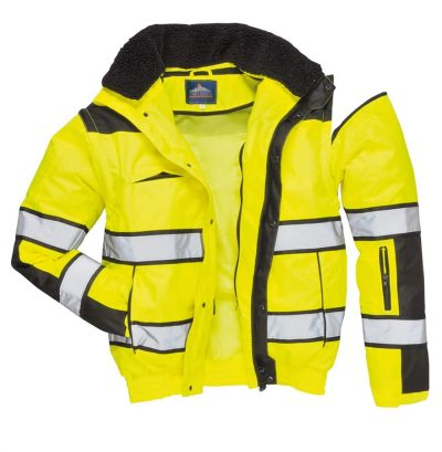 Hi-vis classic bomber jacket (C466) - Yellow/Black - Portwest
