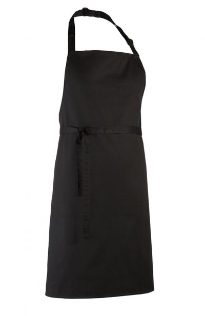 Colours bib apron - XL - Black - Premier