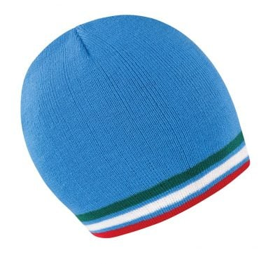 National beanie - Blue/Green/White/Red - Result Winter Essentials