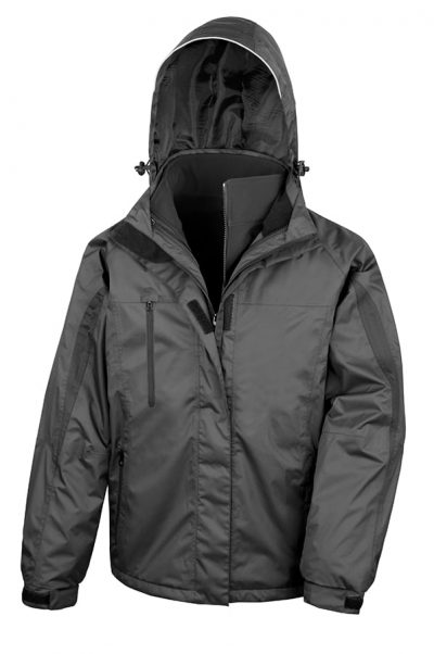 3-in-1 journey jacket with softshell inner - Black/Black - Result