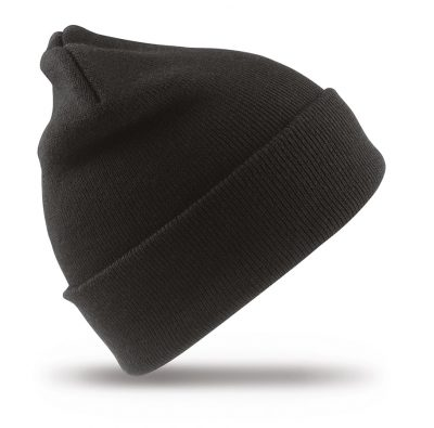 Woolly ski hat - Black - Result Winter Essentials