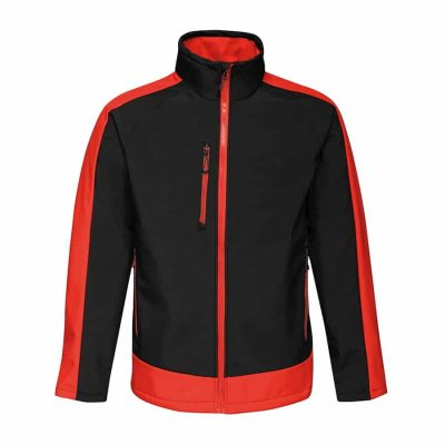Contrast 3-layer printable softshell - Black/Classic Red - Regatta Contrast Collection