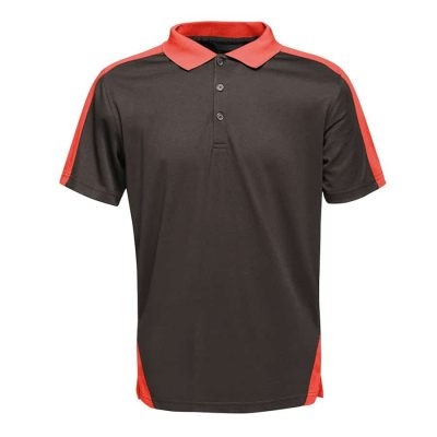 Contrast wicking polo - Black/Classic Red - Regatta Contrast Collection