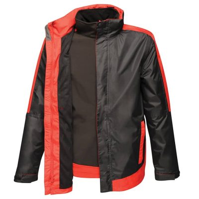 Contrast 3-in-1 jacket - Black/Classic Red - Regatta Contrast Collection
