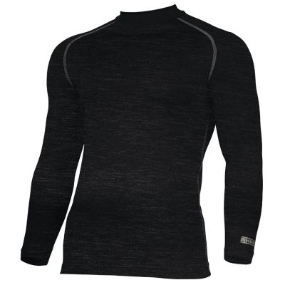 Rhino baselayer long sleeve - Black Heather - Rhino