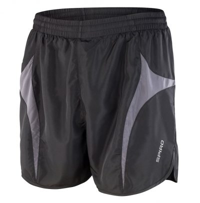 Spiro micro-lite running shorts - Black/Grey - Spiro