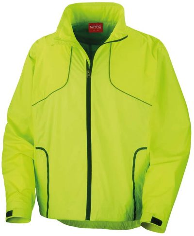 Spiro Crosslite trail and track jacket - Neon Lime - Spiro