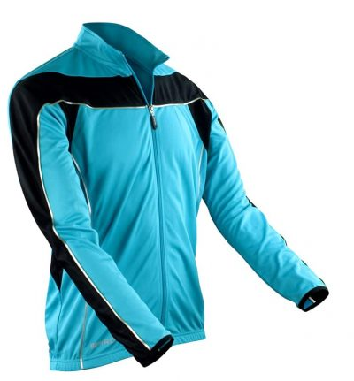 Spiro bikewear long sleeve performance top - Aqua/Black - Spiro