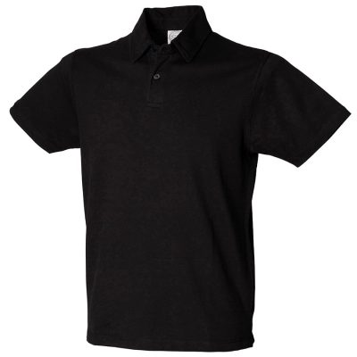 Short sleeve stretch polo - Black - SF