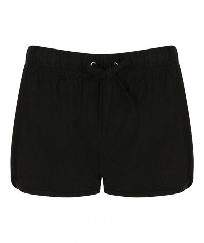 Women's retro shorts - Black/Black - SF