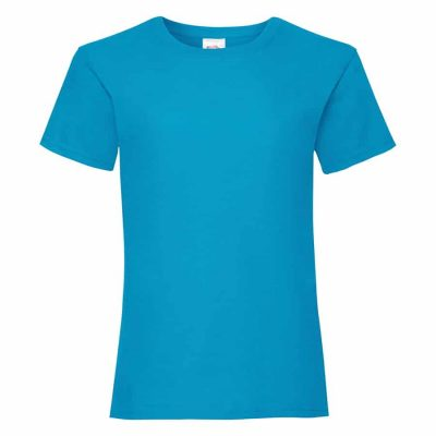 Girls valueweight tee - Azure Blue - Fruit of the Loom