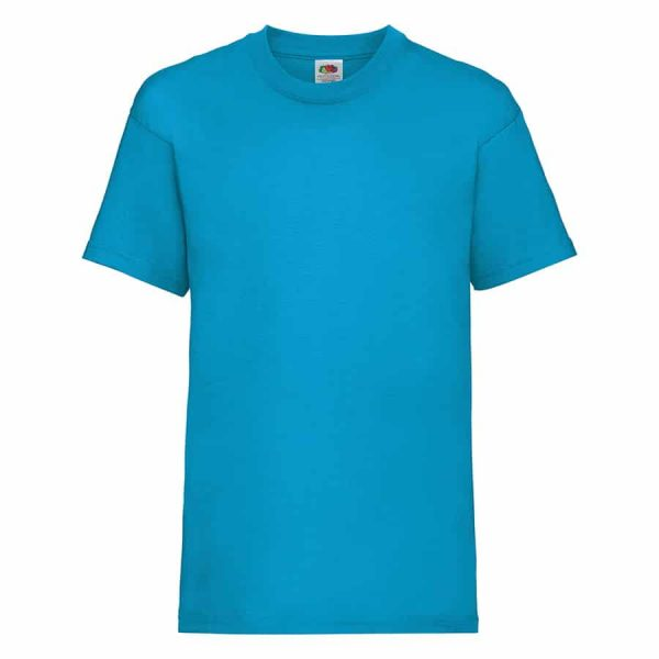 Kids valueweight tee - Azure Blue - Fruit of the Loom