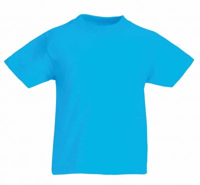Kids original T - Azure Blue - Fruit of the Loom