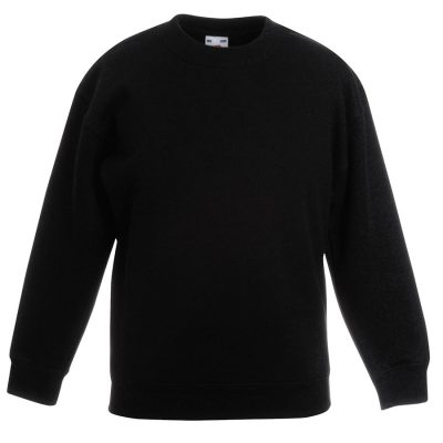 Classic 80/20 kids set-in sweatshirt - Black - Fruit of the Loom