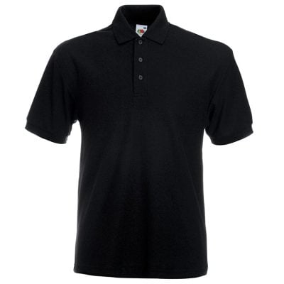 Heavyweight 65/35 polo - Black - Fruit of the Loom